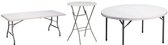 SP EVENT könyöklő, táblaasztal, bankett asztal, körasztal, műanyag asztal, asztal bérlés